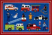 LA Rug OLK-018 3958 Olive Kids Collection - Heroes Rug - 99.1cm x 147.3cm