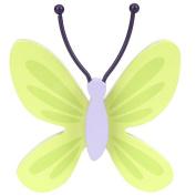 NoJo Beautiful Butterfly 3 Piece Wall Decor