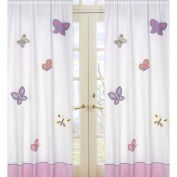 JoJo Designs Pink and Purple Butterfly Collection Window Panels