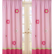JoJo Designs Pink and Green Flower Collection Window Panels