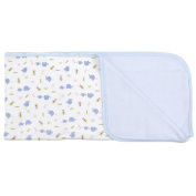 SpaSilk 2-Ply Cotton Receiving Blanket - Boys Elephant Print