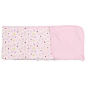 SpaSilk 2-Ply Cotton Receiving Blanket - Floral Print