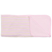 SpaSilk 2-Ply Cotton Receiving Blanket - Girls Stripe Print