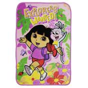Dora the Explorer Jungle Fun Plush Blanket