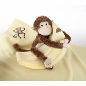 Baby Aspen BA12009NA Plush Monkey Magoo and Blankie Too in Keepsake Banana Gift Box
