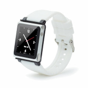 iWatchz Q Collection Wrist Strap for iPod Nano 6G - White