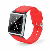 iWatchz Q Collection Wrist Strap for iPod Nano 6G - Red