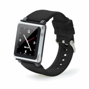 iWatchz Q Collection Wrist Strap for iPod Nano 6G - Black