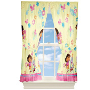Dora the Explorer Painted Flowers 160cm Drapes