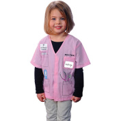 My First Career Gear Pink Doctor Halloween Costume - Toddler Size 3-5