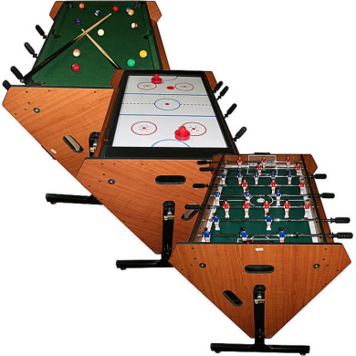 3 in 1 rotating table game billiards air hockey