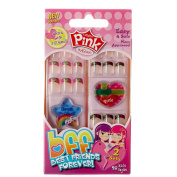 Pink 'Best Friends' Sticker Nail Set - Sincerity