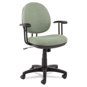 Interval Swivel/Tilt Task Chair, 100% Acrylic with Tone-On-Tone Pattern, Black