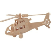 Helicopter - Woodcraft Construction Kit