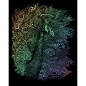 ENGRAVING ART & TOOL RAINBOW STYLE OPEN TAIL PEACOCK