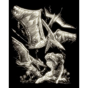 Royal and Langnickel Glow In Dark Engraving Art, Pterodactyl