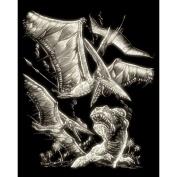 Royal and Langnickel Glow In Dark Engraving Art, Pterodactyl