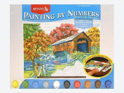 Reeves Large Acrylic Painting By Numbers - Covered Bridge