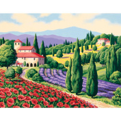 Dimensions 322194 Paint By Number Kit 14 in. x 11 in. -Tuscan Scene