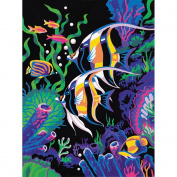 "Learn To Paint! Paint By Number Kit 23cm X12""-Underwater Scene"