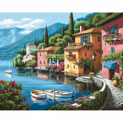 Paint By Number Kit 50cm x 41cm -Lakeside Village