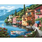 Paint By Number Kit 50cm x 41cm -Lakeside Village