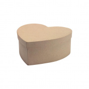 "Paper Mache Heart Box-7-1/2""X7-1/2""X3"""