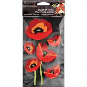 Pretty Poppies 3-D Embellishment Stickers-Poppies 5/Pkg