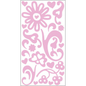 "Sugar Rush Varnish Transparent Stickers 5.75""X12.25"" Sheet-Pink"