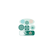 ColorStories 3D Charms Stickers 6/Pkg-Green