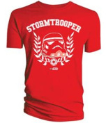 Lego Star Wars Storm Trooper Helmet Red T-Shirt Large