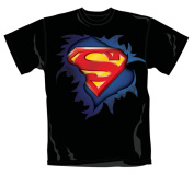 Superman - Torn Logo - T-Shirt Large