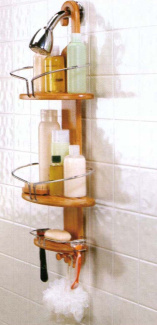 Revolution Bamboo & Stainless Shower Organizer