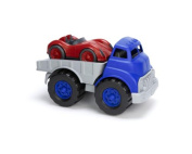 Green Toys 1203322 Green Toys Blue Flatbed Truck and Red Race Car Set