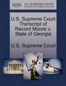 U.S. Supreme Court Transcript of Record Moore V. State of Georgia