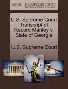 U.S. Supreme Court Transcript of Record Manley V. State of Georgia
