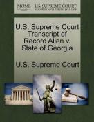U.S. Supreme Court Transcript of Record Allen V. State of Georgia
