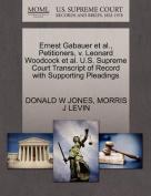 Ernest Gabauer et al., Petitioners, V. Leonard Woodcock et al. U.S. Supreme Court Transcript of Record with Supporting Pleadings