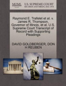 Raymond E. Trafelet et al. V. James R. Thompson, Governor of Illinois, et al. U.S. Supreme Court Transcript of Record with Supporting Pleadings