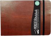 Monsieur Notebook Leather Journal - Landscape Brown Sketch Medium