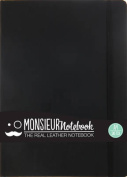 Monsieur Notebook - Real Leather A4 Black Sketch