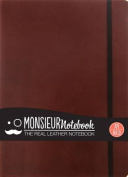 Monsieur Notebook Leather Journal - Brown Ruled Large