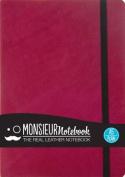 Monsieur Notebook Leather Journal - Pink Plain Medium