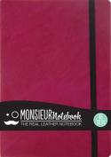 Monsieur Notebook Leather Journal - Pink Sketch Medium A5