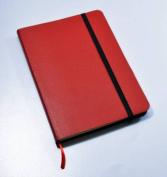 Monsieur Notebook Leather Journal - Red Plain Medium A5