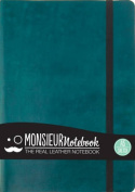 Monsieur Notebook- Real Leather A5 Turquoise Sketch