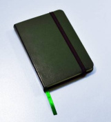 Monsieur Notebook Leather Journal - Green Plain Small A6