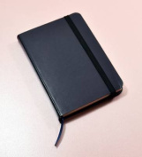 Monsieur Notebook Leather Journal - Navy Ruled Small A6