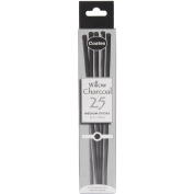Coates Willow B25 Charcoal Sticks, Medium, Pk 25