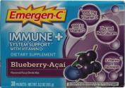 Alacer Emergen-C Immune Plus System Support with Vitamin D Blueberry Acai -- 30 Packets